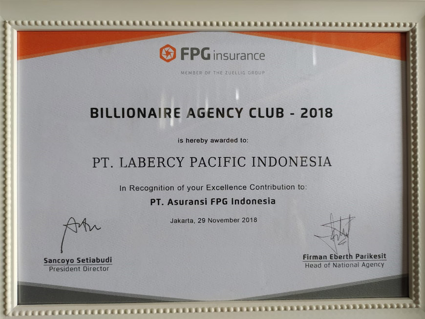 FPG Billionaire Agency Club 2018